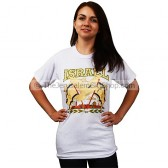 Israeli Flags with Dove over Jerusalem T-Shirt