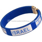 Clip-on Israeli Flag Israel Bracelet