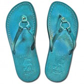 Leather Jesus Sandals - Jericho Style - Colored