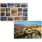 Set of 6 Placemats - Aerial View Jerusalem - Popular Tourist Spots in Jerusalem - Double Sided
