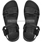 Black leather Biblical Jerusalem Sandals