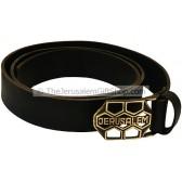 Camel Black Leather Jerusalem Belt