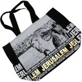 Jerusalem Camel Mount of Olives Canvas Tote Bag - Gold Foil - Zipper