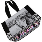 Jerusalem Camel Mount of Olives Canvas Tote Bag - Rainbow Foil - Zipper