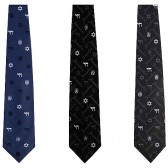 Tie - Jerusalem Emblem - Chai and Star of David