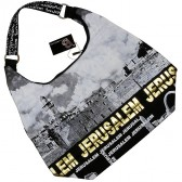 Kotel - Western Wall Canvas Hobo Bag - Jerusalem - Gold Foil - Zipper