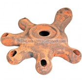Replica Clay Oil Lamp - Five headed Jerusalem Cross