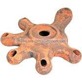Replica Clay Oil Lamp - Five headed Jerusalem Cross