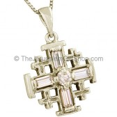 'Jerusalem Cross' Pendant with Crystal Cross Design