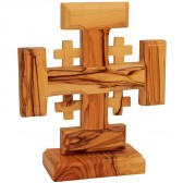 Free Standing 'Jerusalem Cross' Made in Bethlehem - Olive Wood