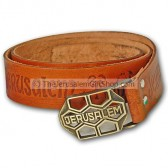 Camel Leather Jerusalem Belt