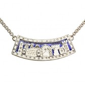 Jerusalem Necklace - Silver with Swarovski Crystals