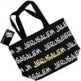 Canvas 'Jerusalem' Tote Bag - Black