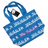 Canvas 'Jerusalem' Tote Bag - Blue