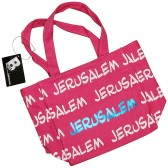 Canvas 'Jerusalem' Tote Bag - Pink