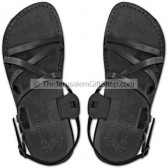 Black leather Biblical Jesus Sandals