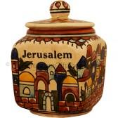 Jerusalem Sugar Pot - Earth Tan Square