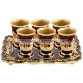 Jeweled Jerusalem Cups on Matching Tray