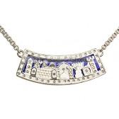 Jerusalem Necklace - Silver with Swarovski Crystals