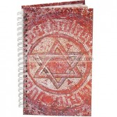 Spiral Hard Cover Notebook - Star of David