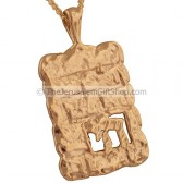 Western Wall Kotel with 'Chai' Pendant - Goldfill