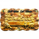 The Last Supper - 19 inch wide Large Olive Wood Plaque