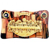 The Last Supper - Olive Wood Jerusalem Plaque