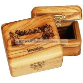 Olive Wood The Last Supper Box