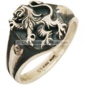 Lion of Judah Sterling Silver Ring
