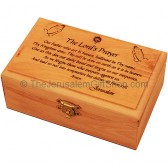 Medium Olive Wood 'The Lord's Prayer' Box