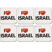 'I Love Israel' Coasters - Set of Six