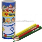 Colored Pencils - Israeli Flag
