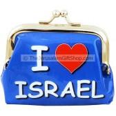 Souvenir 'I Love Israel' Plastic Purse
