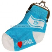Novelty Sock Purse - I Love Israel