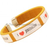 Clip-on 'I Love Jerusalem' Gold Bracelet