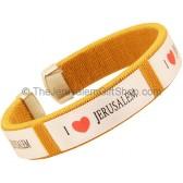 Clip-on 'I Love Jerusalem' Gold Bracelet