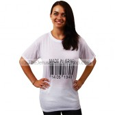 'Made in Israel' 14-05-1948 Barcode White TShirt