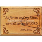 Olive Wood Magnet 'As for me and my house we will serve the Lord' Joshua 24:15
