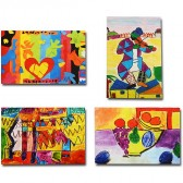 Makor HaTikva 'Abstract Artists Collection' Card Set