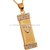 Goldfill Two-Tone 'Shin' on Mezuzah Pendant by 'Marina'