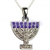 Menorah Pendant with CZ stones