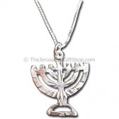 Silver Menorah Jewelry