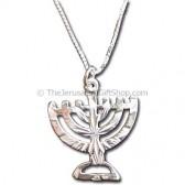 Silver Menorah Jewelry