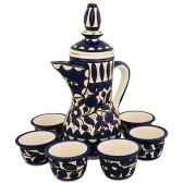 Middle Eastern Coffee Pot and Cup Set - Armenian Ceramic