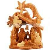 Mini Nativity Scene with Bethlehem Church and Star