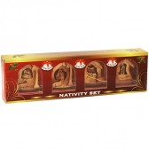 Olive Wood Christmas-Tree-Decoration - Holy Land Nativity Souvenir Set 4 Piece Gift Pack