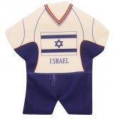 Mini Soccer T-Shirt - Israeli Flag - Window Suction - Wall Hanging