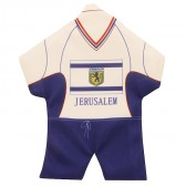 Mini Soccer T-Shirt - Jerusalem Flag - Window Suction - Wall Hanging