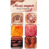Set of 6 Magnets - Mosaic