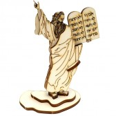 TEN COMMANDMENTS - MOSES | DIY Wood 3D Puzzle Kit | Educational Self Assembly Craft | Made in the Holy Land